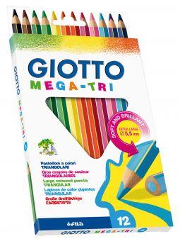 Dickkernfarbstift Giotto Mega Tri braun
